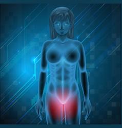 Female menstrual pain vector