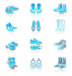 Footwear icons  marine series vector