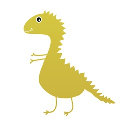 Dinosaur sweet and cute vector