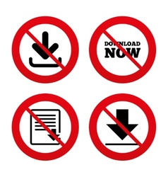 Download now signs upload file document icon vector