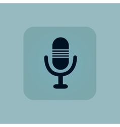 Pale blue microphone icon vector