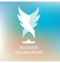 Logo religious organization of society vector