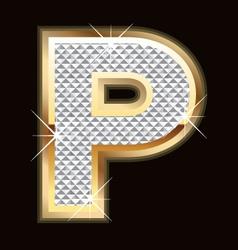 p bling bling vector image