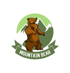 Mountain bear logo vector