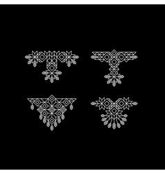 Vintage decoration element line art design vector