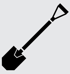 Flat shovel icon vector