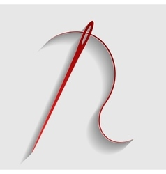 Needle with thread vector