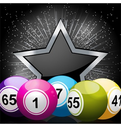 Star bingo ball background vector
