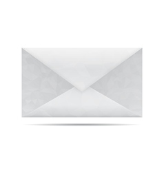Low poly gray envelope vector