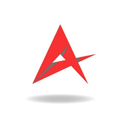 A - letter or idea abstract red star logo vector image vector image