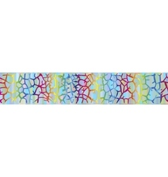 Background with giraffe skin in the rainbow colors vector