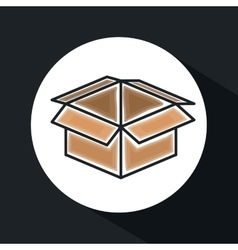 box carton icon design vector image