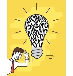 Business idea generator vector image