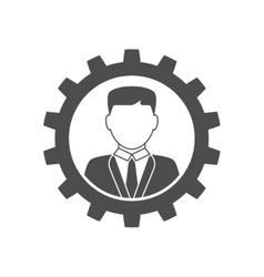 Businessman in gear icon vector image vector image