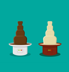 cheese and chocolate fondue in flat style vector image vector image