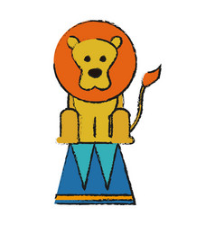 Circus lion icon vector