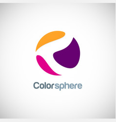 color sphere abstract logo vector image