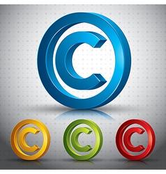 Copyright symbol vector