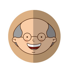 cute grandfather character icon vector image