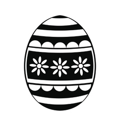 Easter egg black simple icon vector