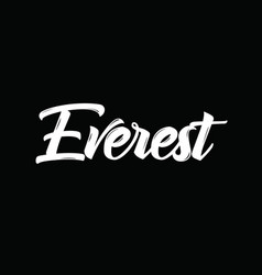 Everest text design calligraphy vector