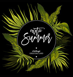 Exotic of tropical leaves vector