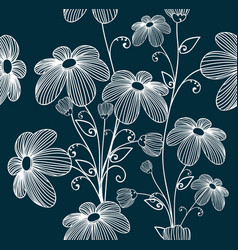 florals seamless pattern background vector image vector image