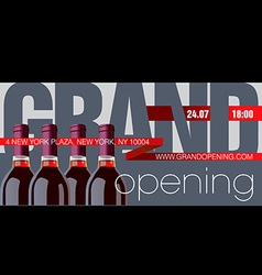 Grand opening flyer template vector