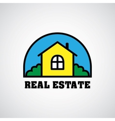 house real estate logo vector image
