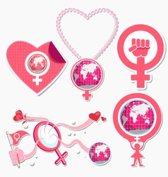 International woman day symbol and icon vector
