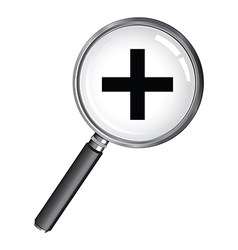 magnifying glass plus vector image
