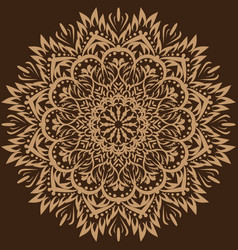 mandala brown background vector image vector image