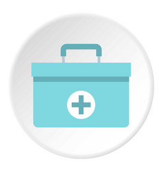 Medicine chest icon circle vector
