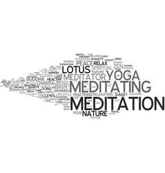Meditator word cloud concept vector
