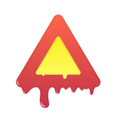 melting warning icon blank beware symbol vector image
