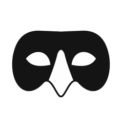 Mens Venetian mask icon simple style vector image
