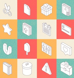 Modern Flat Icons 6 vector image vector image