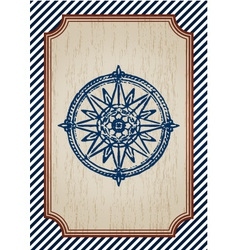 nautical poster vector image vector image