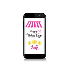 Online shopping sale happy mother day discount vector