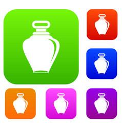 parfume bottle set color collection vector image vector image