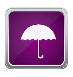 purple emblem sticker umbrella icon vector image