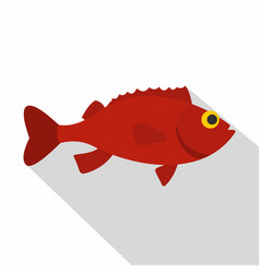 Red betta fish icon flat style vector