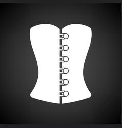 sexy corset icon vector image vector image