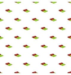 Small football stadium pattern cartoon style vector