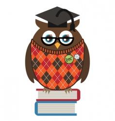 owl professor vector image