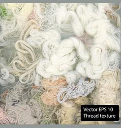 White cotton texture thread background vector