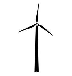 Wind turbine the black color icon vector
