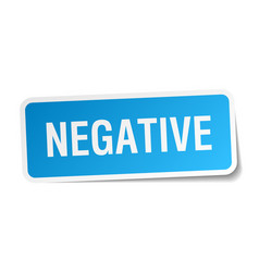 Negative square sticker on white vector