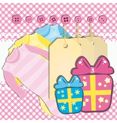 Baby girl gift card vector