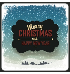 Merry christmas vintage label design template vector